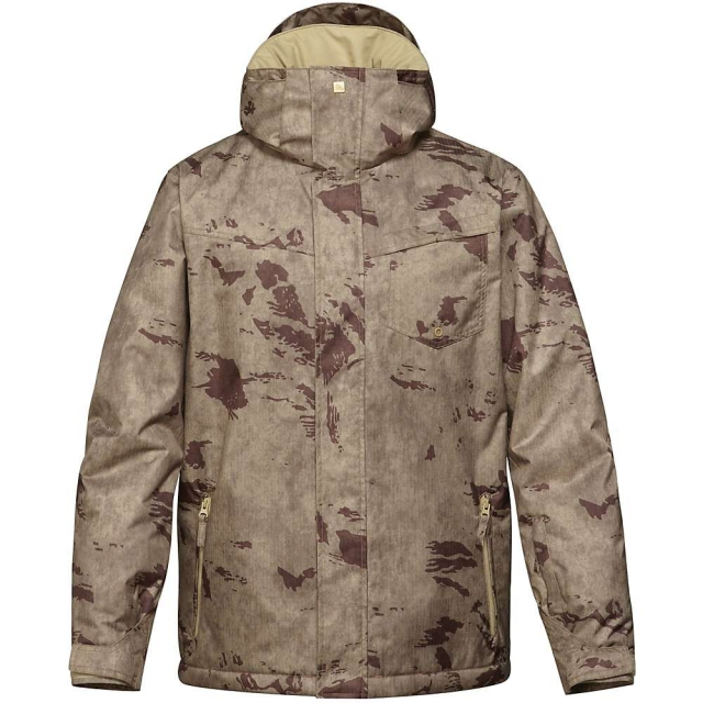 Quiksilver - Mission Printed Insulated Snowboard Jacket - Men's