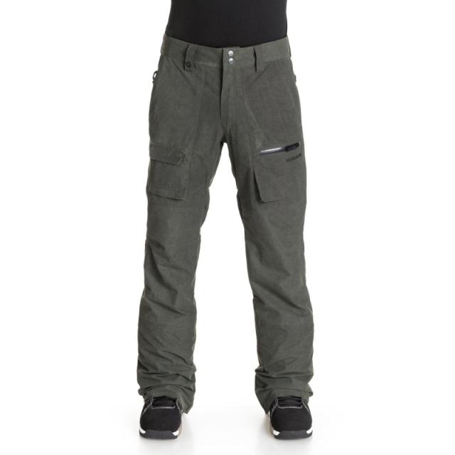 Quiksilver - Mens Dark & Stormy 15K Snow Pant - Sale Black Large