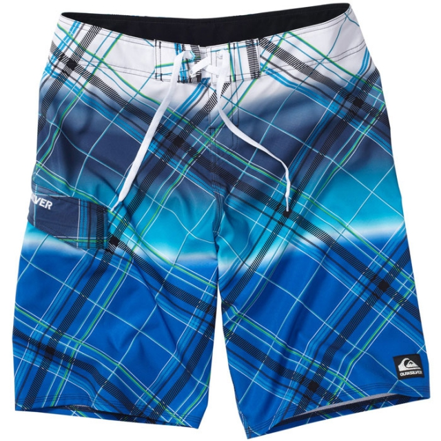 "Quiksilver - Cypher Wonderland Boardshorts-22"" Mens - Skydiver Plaid 28"