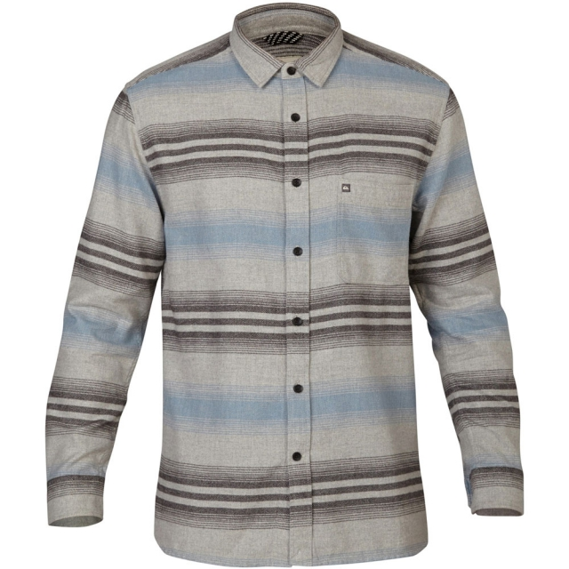 Quiksilver - Skua Long Sleeve Flannel Shirt Mens - Drizzle Stripe L
