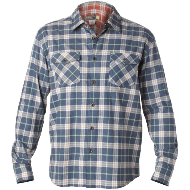 Quiksilver - Turner Island Long Sleeve Flannel Shirt Mens - Midnight Navy S