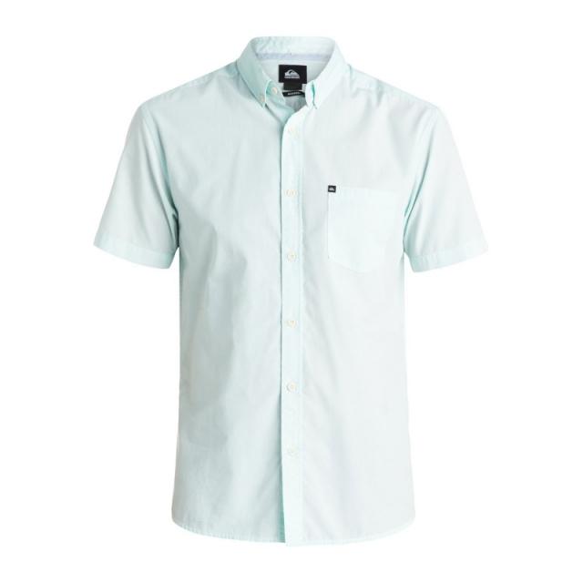 Quiksilver - Mens Wilden Short Sleeve Shirt - Closeout Aruba Blue Medium