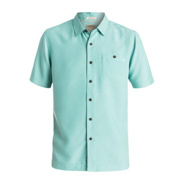 Quiksilver - Mens Marlin Short Sleeve Shirt - Closeout Agate Green Large