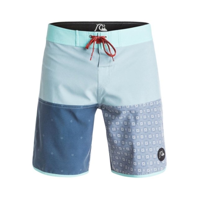 Quiksilver - Mens Quadblock 18 in Board Shorts - Closeout Tourmaline 30