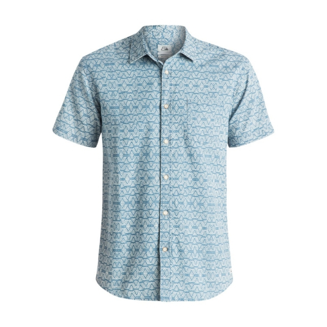 Quiksilver - Mens Camada Short Sleeve Shirt - Sale Flint Stone Medium