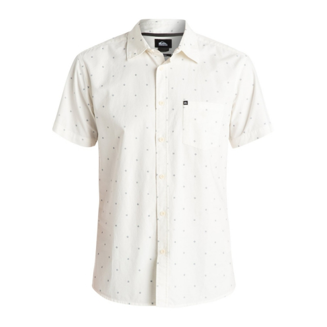Quiksilver - Mens Everyday Mini Motif Short Sleeve Shirt - New Snow White