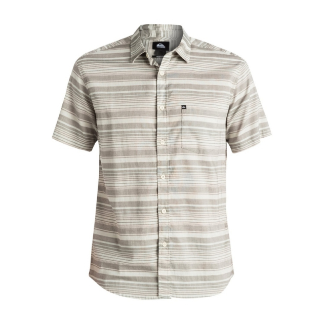 Quiksilver - Mens Rifter Short Sleeve Shirt - Sale Dark Shadow Large