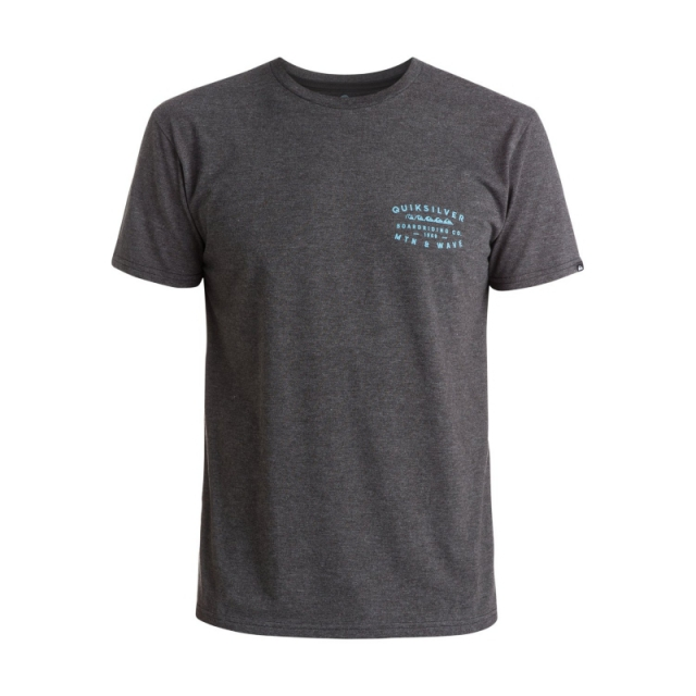 Quiksilver - Mens Transition Modern Fit Tee - Closeout Charcoal Heather