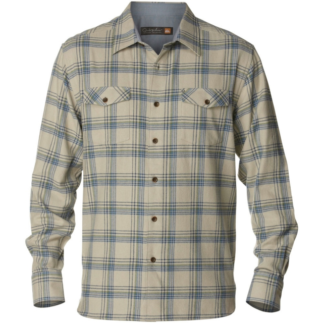 Quiksilver - Northern Pike Long Sleeve Flannel Shirt Mens - Green Mist M