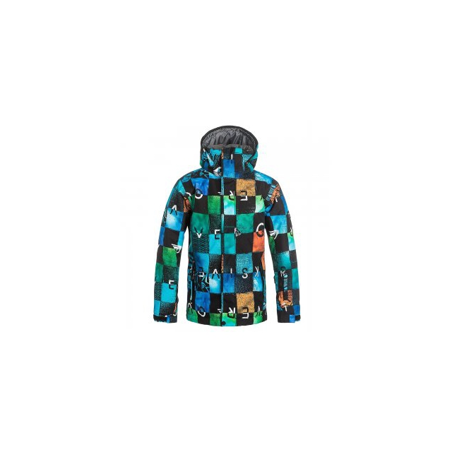 Quiksilver - Mission Print Insulated Snowboard Jacket Boys', Chikalapaki Origin, M