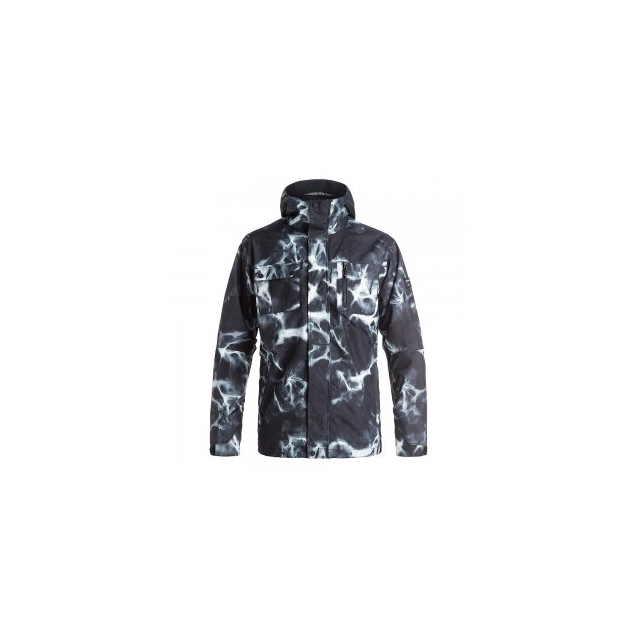 Quiksilver - Mission 3-in-1 Insulated Snowboard Jacket Men's, Highdye Anthracite, L