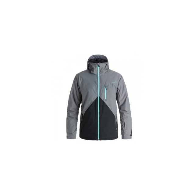 Quiksilver - Mission Colorblock Insulated Snowboard Jacket Men's, Quiet Shade, L
