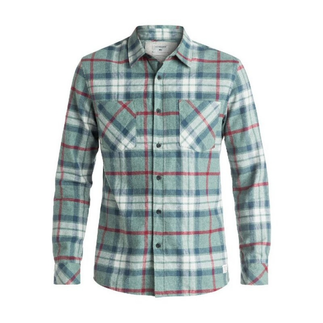 Quiksilver - Men's Fitzthrower Flannel Long Sleeve Shirt