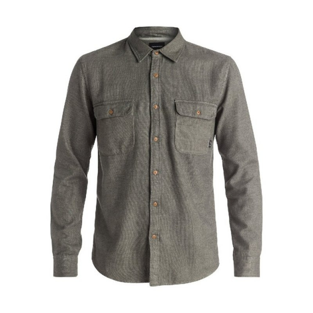 Quiksilver - Men's The Captaincy Flannel Long Sleeve Shirt