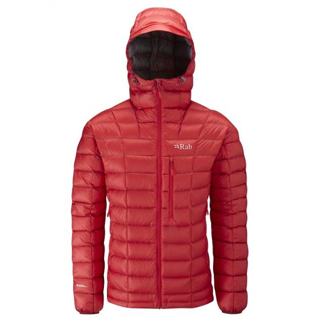Rab - mens continuum hoodie red/ zinc medium