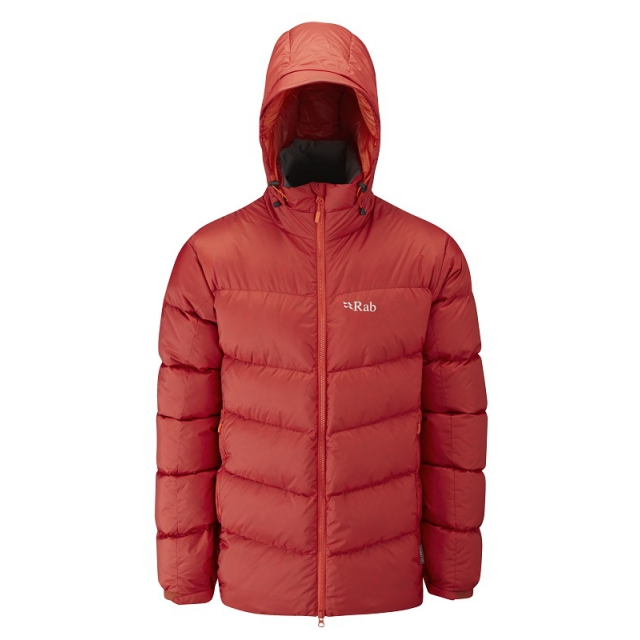 Rab - mens ascent jacket rust/ koi large