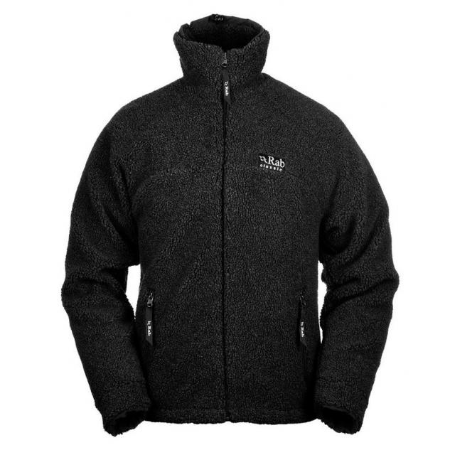 Rab - mens double pile jacket black