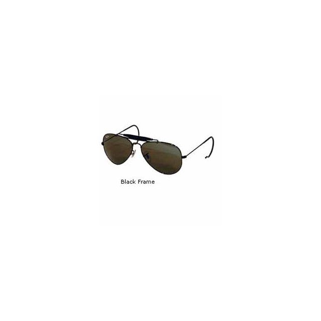 Ray Ban - Outdoorsman 3030 Aviator Sunglasses with Wire Wrap Ears - Black