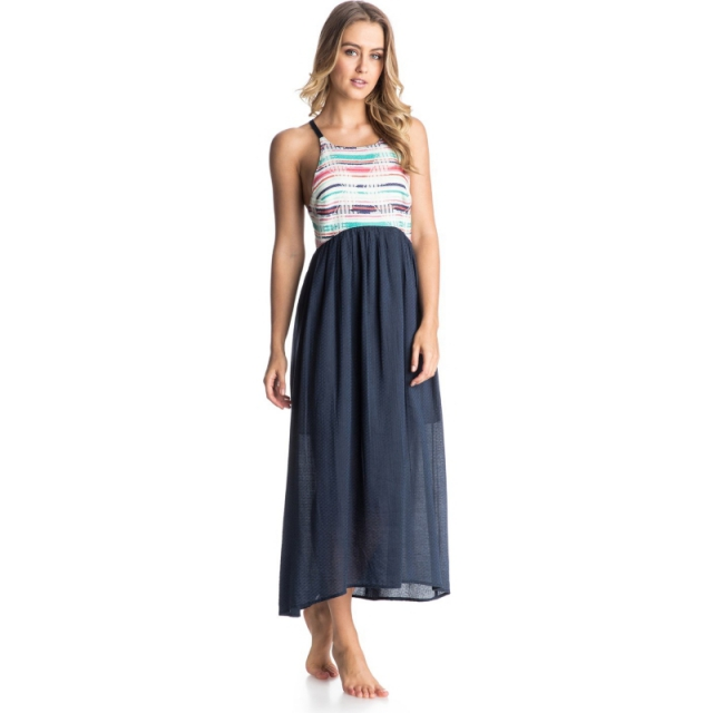 Roxy - All Washed Out Dress - Sale Warm White Sunset Small
