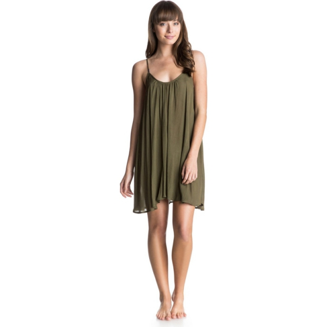 Roxy - Tidal Wave Tank Dress - Closeout Military Olive XL