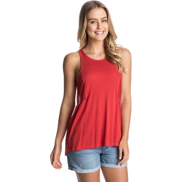 Roxy - Capitola Racerback Tank Top - Closeout Fiery Orange X Small