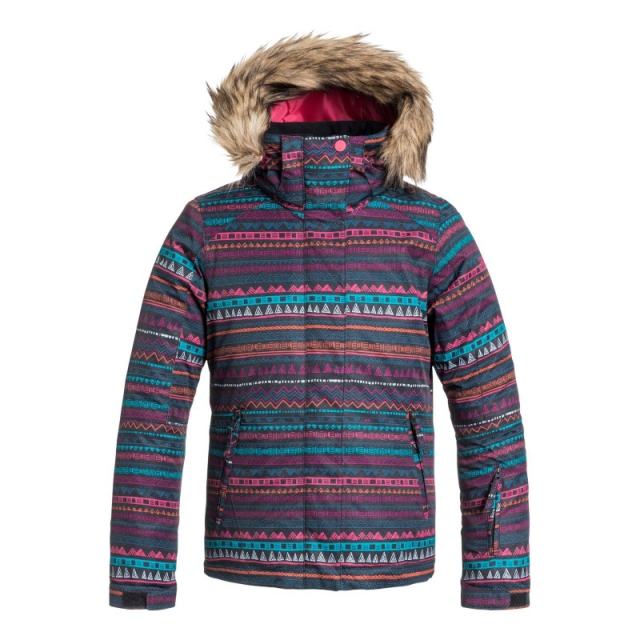 Roxy - Girls American Pie Snowboard Jacket - Closeout Geo Stripe Large