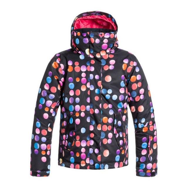 Roxy - Jetty Insulated Snowboard Jacket Girls', Plaid Lines, M
