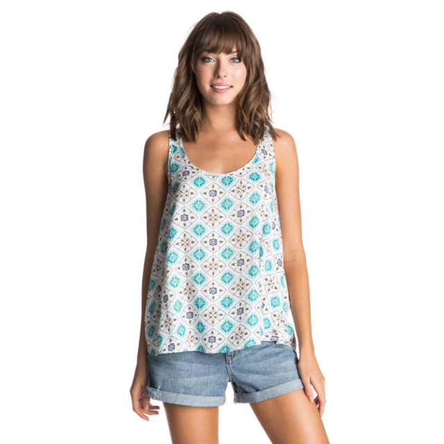 Roxy - Speed Date Tank - Closeout Flower Square Combo Sand Piper Small