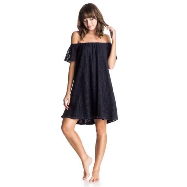Roxy - Azalea State Off the Shoulder Dress - Closeout Eclipse Medium