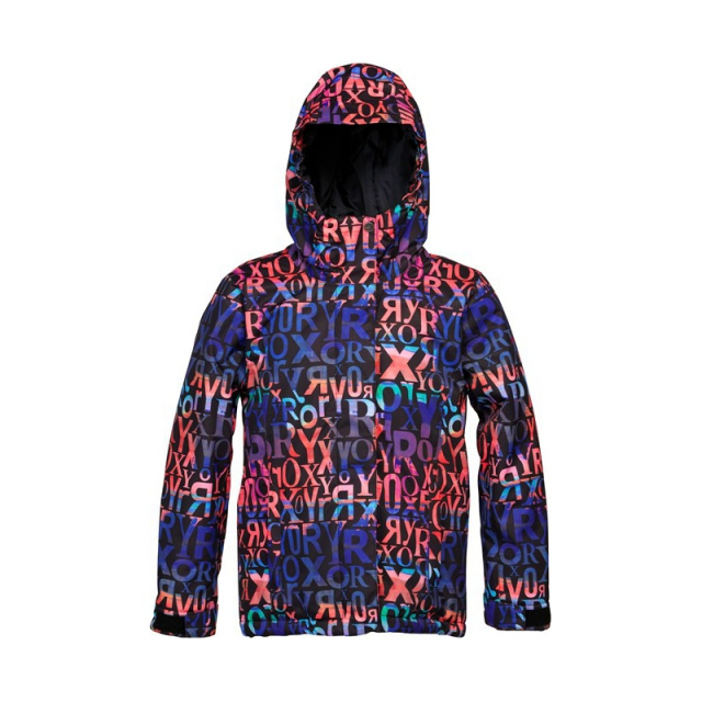 Roxy - Girls American Pie Girl Jacket - Printed - Closeout Deep Blue