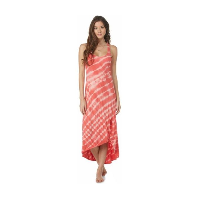 Roxy - Womens Setting Sun Dress - Closeout Sugar Coral Stripe Medium