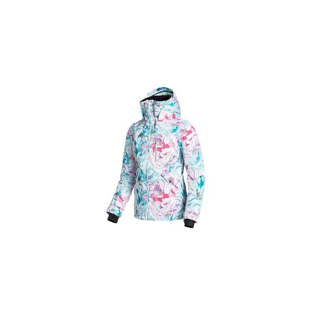 Roxy - Wildlife Insulated Snowboard Jacket Women's, Snow Twist, L