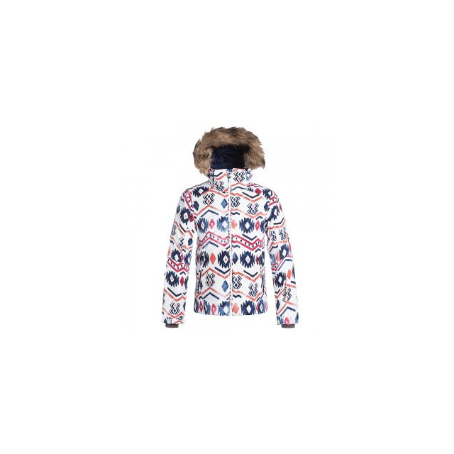 Roxy - American Pie Insulated Snowboard Jacket Girls', Waterinca/Bright White, L