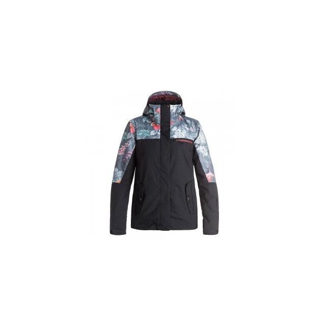 Roxy - Jetty Block Insulated Snowboard Jacket Women's, Hawaiian Tropik/Paradise Pink, L