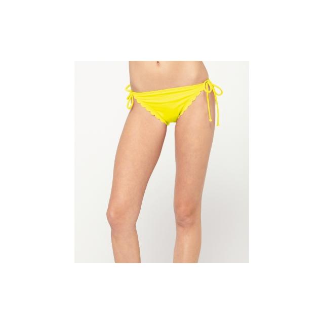 Roxy - Roxy Sun Dancer Scalloped Brazilian String Bikini Bottom - Closeout