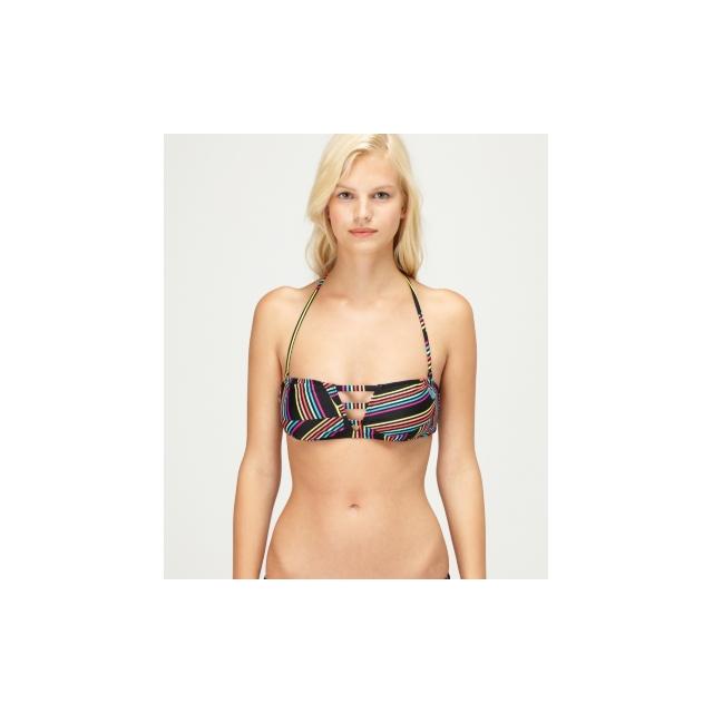 Roxy - Roxy Sun Runner 3 Strap Bandeau Bikini Top - Closeout