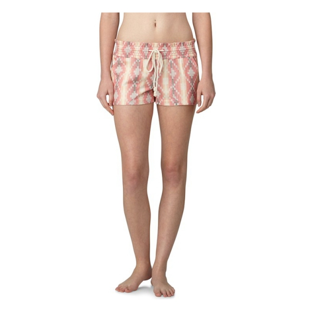 Roxy - Womens Oceanside PTTN Shorts - Sale Glow Pink Shadow Stripe Small