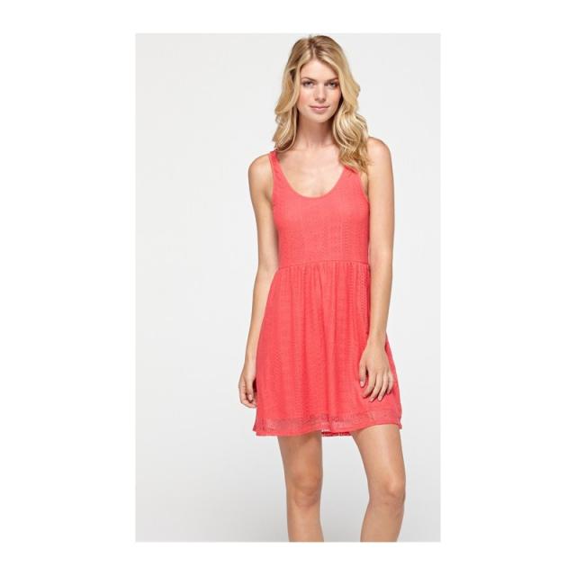 Roxy - Womens Take Me Away Lace Dress Shell Pink Large