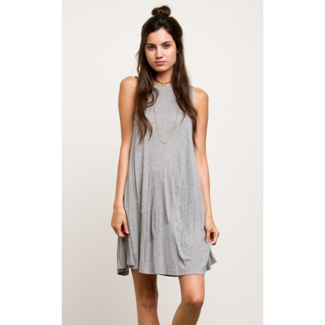 RVCA - Womens Sucker Punch 2 Dress - Closeout Heather Grey Large