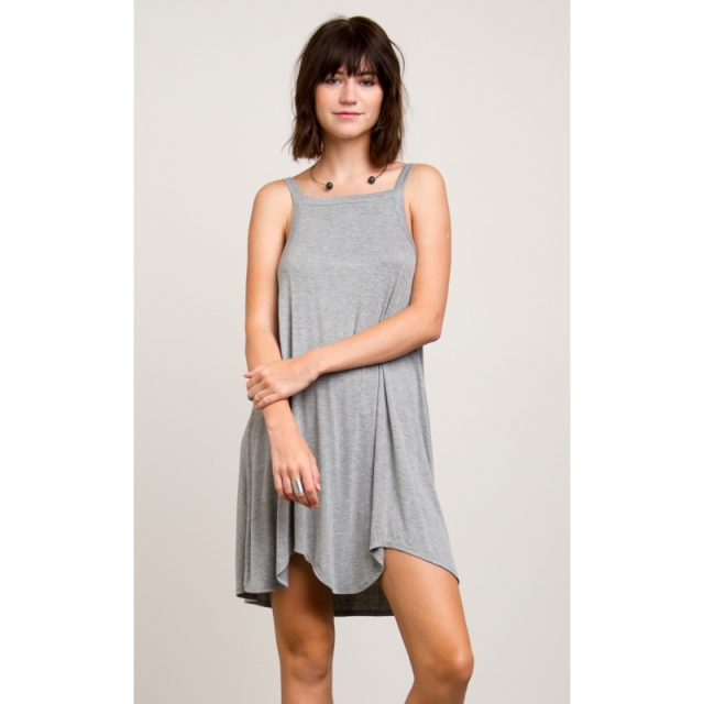 RVCA - Womens Theivery Dress - Closeout Heather Grey Medium