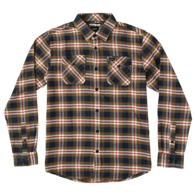RVCA - Men's That'll Work Flannel Long Sleeve Shirt