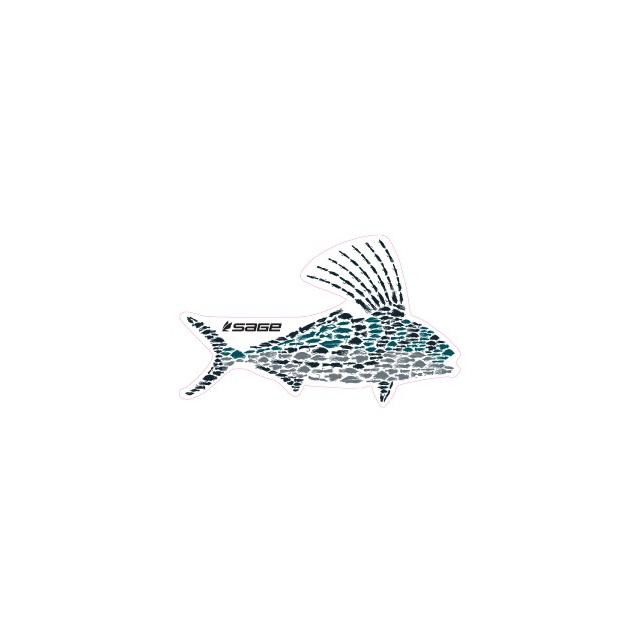 Sage - Rooster Fly Fish Decal