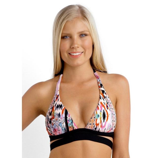 Seafolly - Beach Gypsy Halter Bikini Top - Sale Nectarine 14
