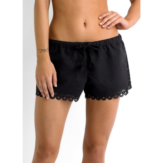 Seafolly - Womens Bella Rose Boardshorts - Sale Black Large