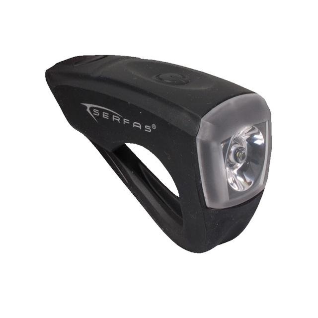 Serfas - - USB Silicone Black Headlight