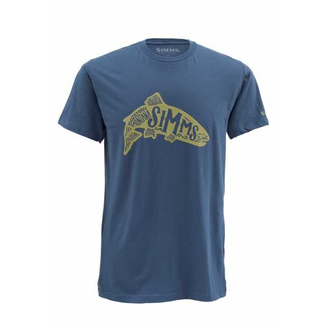 Simms - Men's Woodblock Trout SS T