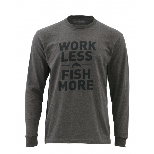 Simms - Work Less Fish More LS T - Trout