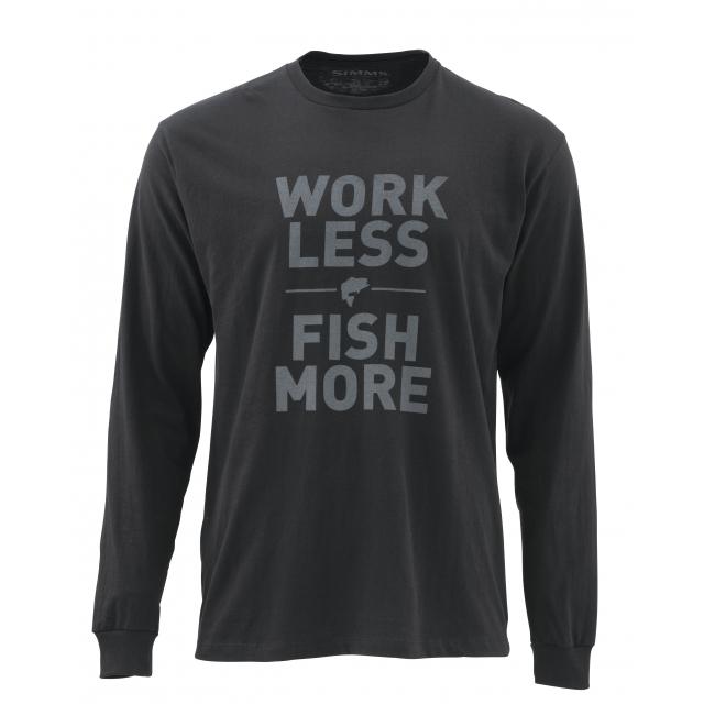Simms - Work Less Fish More LS T - Bass