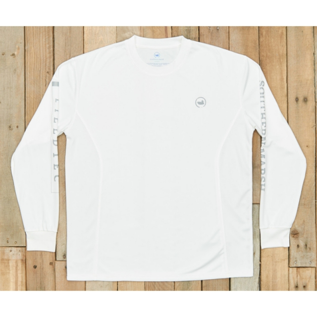Southern Marsh - Fieldtec Fishing Team Long Sleeve Shirt - Closeout White