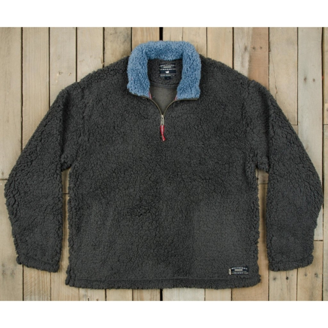 Southern Marsh - Mens Appalachian Pile Pullover - Sale Midnight Gray XL